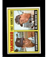 1967 TOPPS #93 STAN BAHNSEN/BOBBY MURCER NM RC ROOKIE YANKEES YANKEES RO... - $9.90