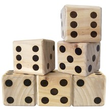 Outdoor Large Wood Dice Set Garden Lawn Camp Children Adult Family Gambl... - $25.20