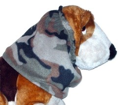 Green Brown Black Khaki Woodland Camouflage Fleece-Camo-Dog Snood- Puppy... - $10.50
