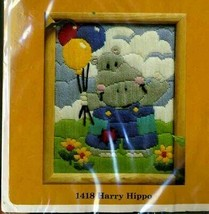 Harry the Hippo The Creative Circle Longstitch Embroidery Kit 1418 Molly... - $17.87