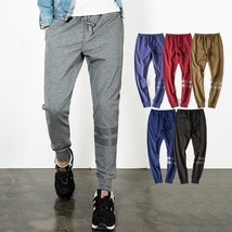 Men's Slim Fit Harem Jogging Baggy Sports Loose Sports Stripe - $33.66