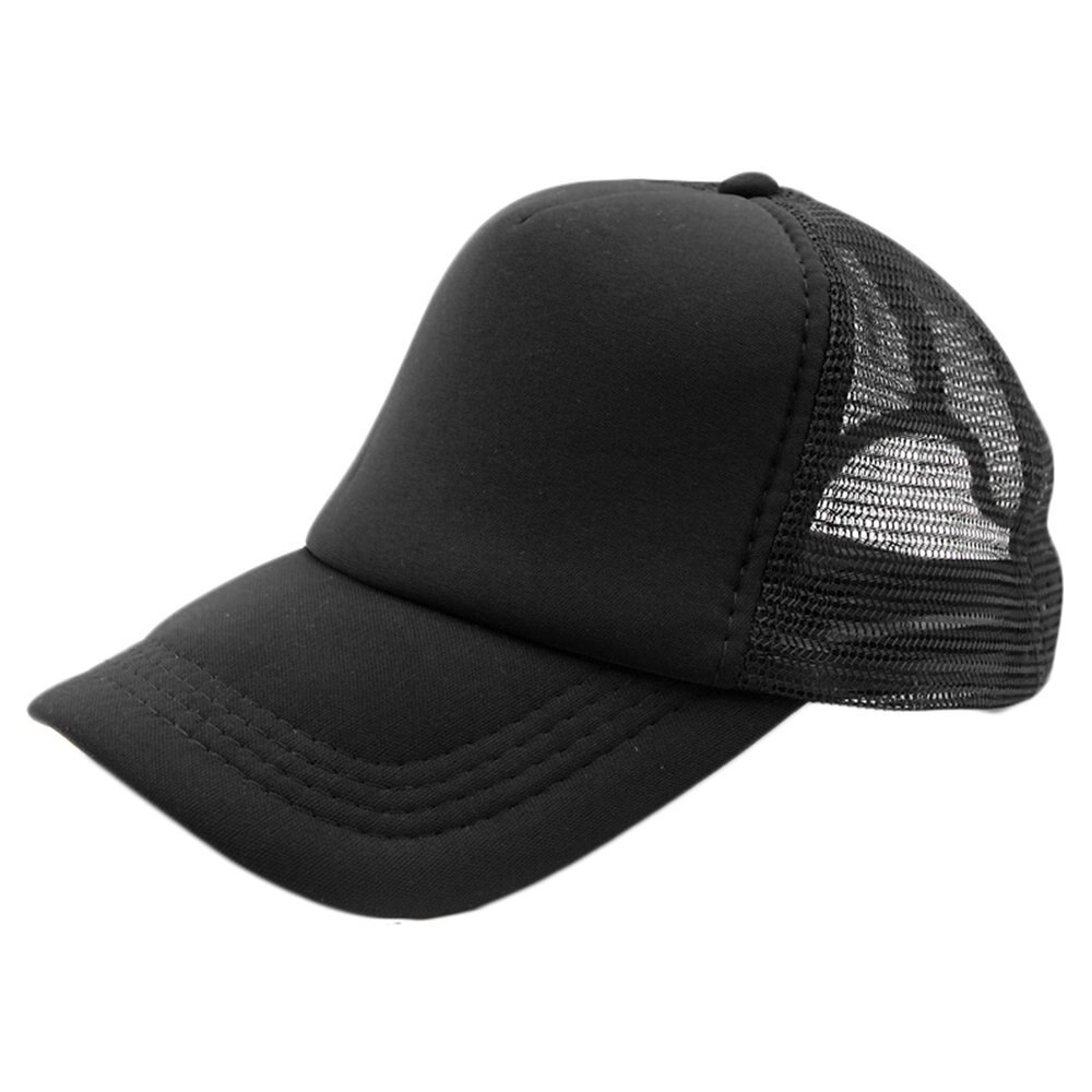 Primary image for Summer Plain Trucker Mesh Hat Snapback Blank Baseball Cap Adjustable Size Men Wo