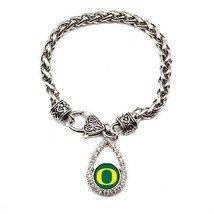 Inspired Silver University of Oregon Ducks Teardrop Silver plated Bracel... - $590,81 MXN