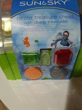 Sun & Sky Pirate Treasure Chest With Diving Treasures New - $9.49