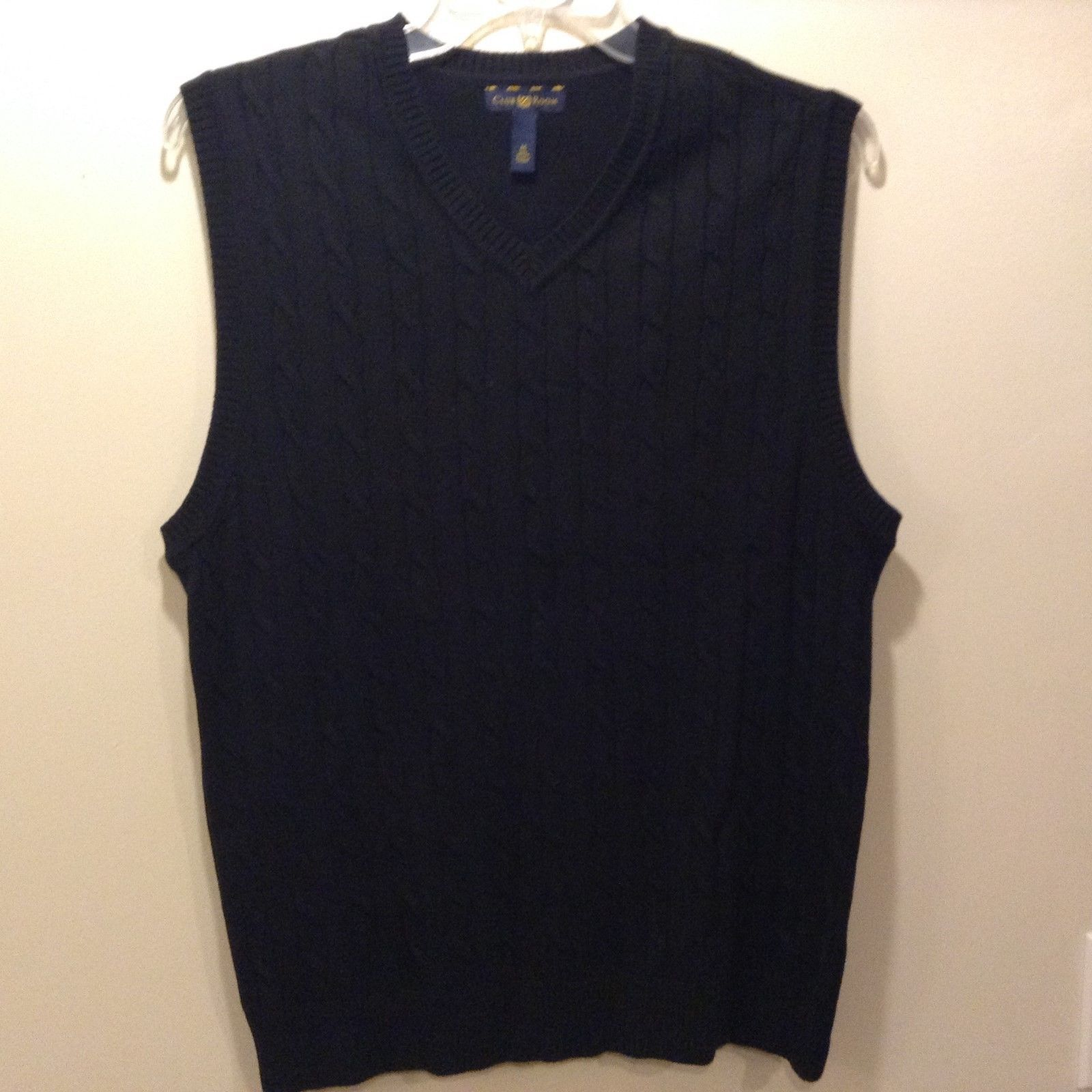 Club Room Men's Navy Blue Sweater Vest Sz Medium