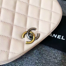 AUTHENTIC CHANEL 2017 PINK QUILTED CAVIAR 2 WAY FLAP BAG NEW image 5