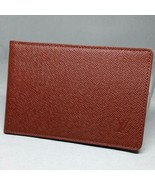 Vuitton Pass Case Taiga bi-fold brown men's beauty products recommended ... - $135.48