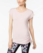 Ideology Women's Cap Sleeve Soft Modal Side-Tie Gathered T-Shirt, Pink N... - $6.72