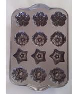 Nordic Ware Holiday Mini Muffin Cakelets Cast Aluminum Heavy Non-Stick B... - $47.00