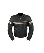 QASTAN Men's New Latest Black Motorbike CE Protectors Leather Jacket QMMJ07 - $159.20+