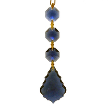 Arrowhead Crystal Chain - Dark Sapphire image 1