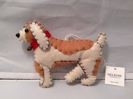Stitched fabric felt dog ornament