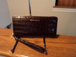 Michael Kors Travel Leather Continental Zip Wallet Money Pieces DAmson P... - $108.89