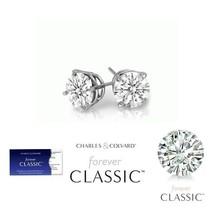 SALE! 0.50 Carat Moissanite Forever Classic Earrings 14K Gold (Charles&C... - $129.00