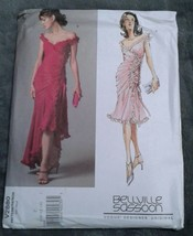 Vogue V2880 Bellville Sassoon Tango Formal Prom Lined Dress Size 10 12 1... - $15.88