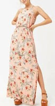 Forever 21 Soft Stretch Maxi Long Full Length Dress Tropical Floral Prin... - $16.82