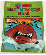 Vintage 1991 Paint N Marker Coloring Book Attack of the Killer Tomatoes ... - $28.04