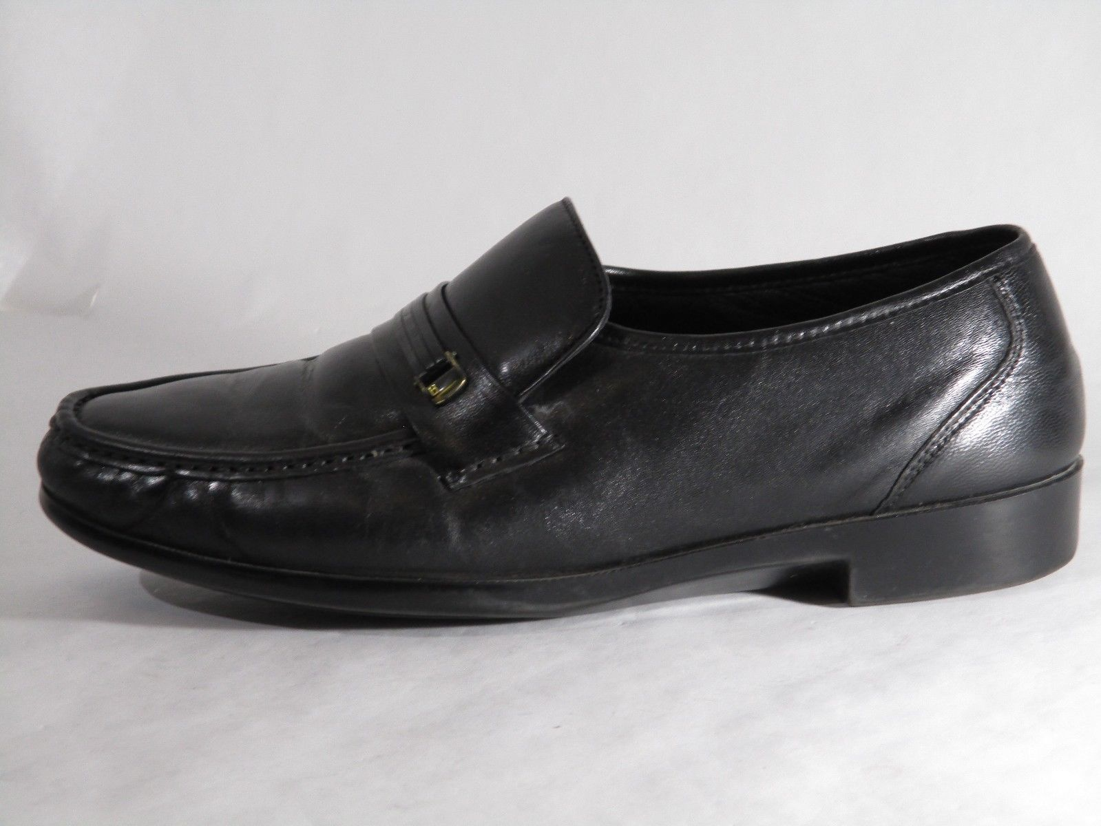 BOSTONIAN Prescott 29052 Black Leather Loafers Mens Slip On Shoes Size 10 EEE