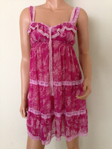 Victoria's Secret Pink Babydoll Slip Sheer lace chemise SMALL - $29.00