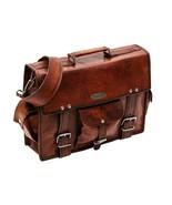 Unisex Genuine Vintage Leather Cross-Over The shoulder Bag Office Briefc... - $53.96+