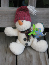 "RUSS BERRIE ~ Vintage Snowman ""Carrots"" Stuffed Plush 9"" Winter Doll ~SH... - $19.99"