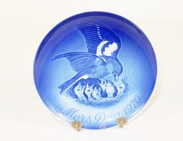 "Bing & Grondahl 6"" Mother's Day Plate, Mors Dag 1970, Mama Bird & Peeps ... - $24.45"