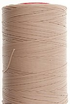 0.6mm Beige Ritza 25 Tiger Wax Thread For Hand Sewing. 25 - 125m length (50m) - $10.78