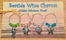 Wine Charms - Handmade Beach Theme - $12.00
