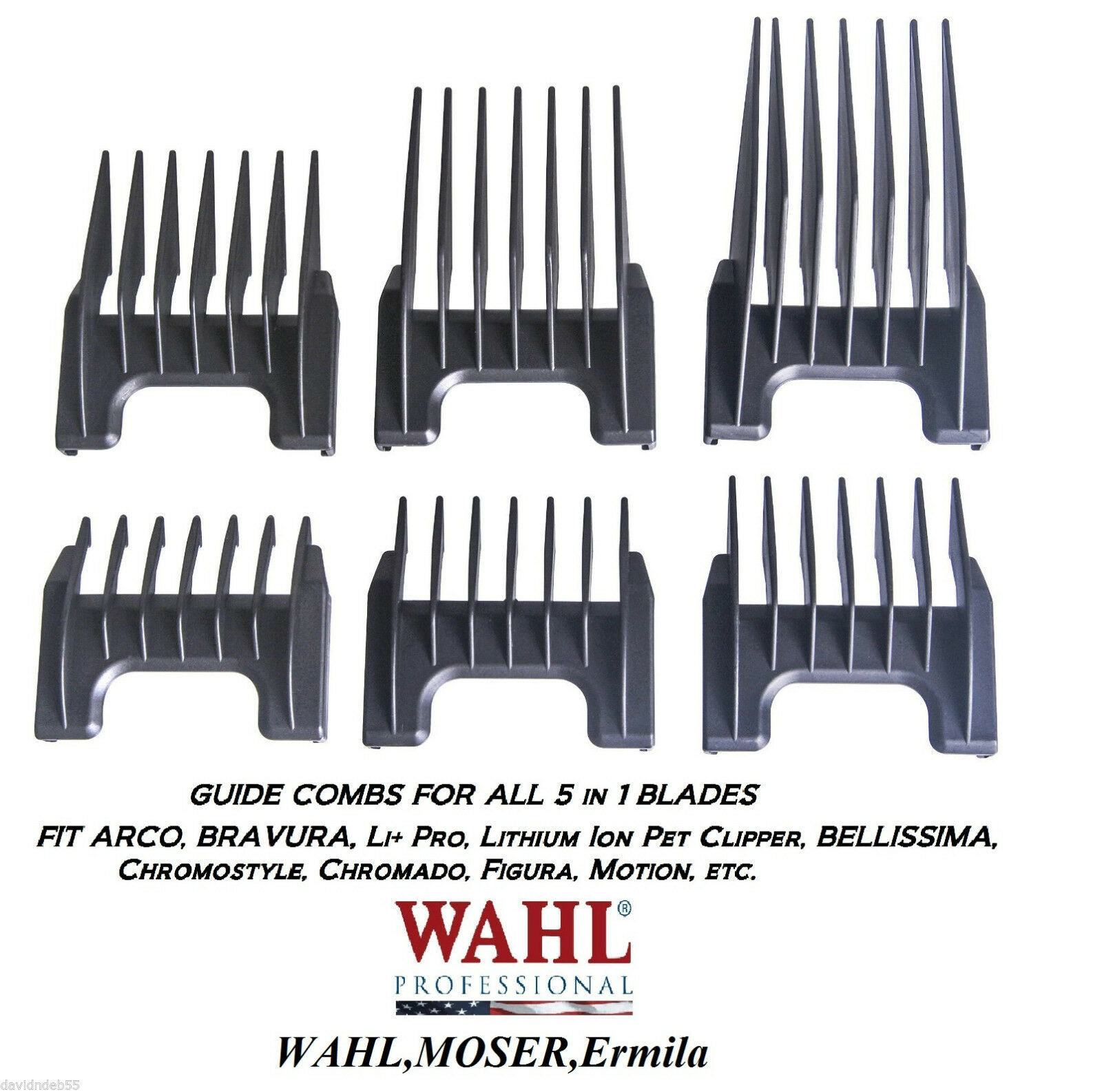 WAHL ATTACHMENT GUIDE COMB For ChromStyle,BRAVURA 5 in 1 Adjustable Blade 5in1 - $9.99 - $14.99