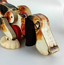1961 Fisher Price Snoopy Dog Pull Toy 181 Vtg Wood Toy Beagle Kid Christmas Gift - $113.84