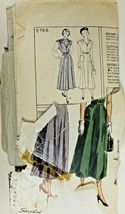 Vtg 1949 Sewing Pattern Simplicity #2766 Skirts Blouses Pockets New Look... - $12.74