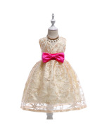 Champagne Flower Girl Dresses Lace Real Photo Ball Gowns For Girls Kids ... - $25.00