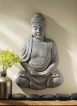 PEACEFUL BUDDHA Wall Decor Meditating Sculpture - $59.62