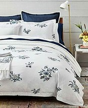 Ralph Lauren Full/Queen Blanc Bleu/ Fallon Duvet Cover Cotton White/Blue... - $159.99