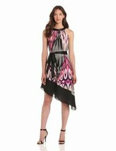 NWT Adrianna Papell Asymmetrical Halter Dress Sz 6 - $32.99