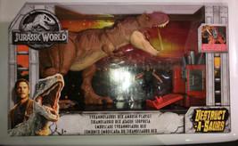 Jurassic World Destruct-A-Saurs Tyrannosaurus Rex Ambush Jurassic Park RARE - $99.99