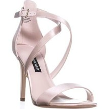 Nine West Mydebut Dress Heel Sandals, Light Natural Satin, 9.5 US - $31.67