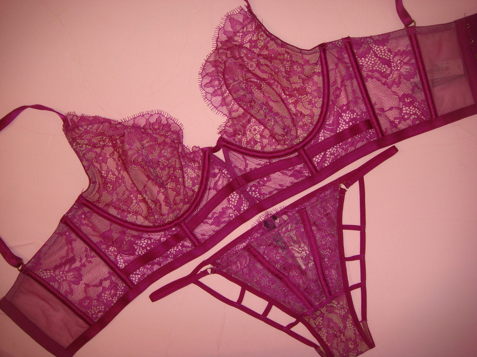f9864bf24f0 S l1600. S l1600. Previous. Victoria s Secret unlined 34D BRA SET S