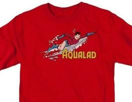 Aqualad T-shirt Aquaman retro superhero cartoon DC cotton red graphic tee image 1