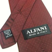Alfani Necktie Dark Red Fabric made in Italy Cupro Blend EUC - $8.94