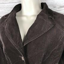 Tommy Hilfiger Corduroy Blazer Jacket Women's S Brown Stretch Button Long Sleeve image 2