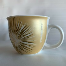 Starbucks 2014 Ceramic Gold Starburst Coffee Mug 14 oz  - No chips or cr... - $25.00