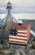 WOODEN LIDDED PATRIOTIC BOX WITH STAND – A GREAT WAY TO FEEL RED, WHITE ... - $44.95