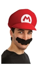 Mario Hat and Mustache - $19.00