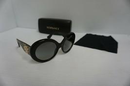Versace Damen Neue Sonnenbrillen Mod 4298 55/20 Grau Gläser Gold Arm - $209.84
