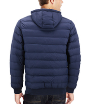 Men's Sherpa Lined Lightweight Hooded Zipper Insulated Quilted Puffer Jacket image 3