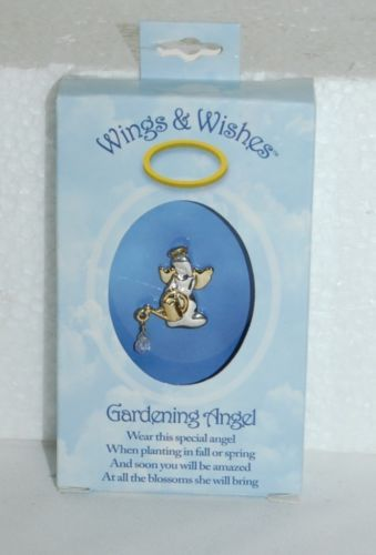 DM Merchandising Wings Wishes Gardening Angel Silver Color Gold Color Water Pail