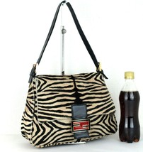 Authentic FENDI Calf Leather Leopard Print Shoulder Bag Hand Bag Purse I... - $256.41