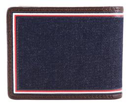 Tommy Hilfiger Men's Leather Wallet Passcase Billfold Rfid Brown 31TL220103 image 2