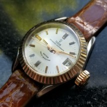 TUDOR 14K & SS Ladies Princess Oysterdate 7594/4 Automatic w/Date c.1967 MS197 - $1,962.16
